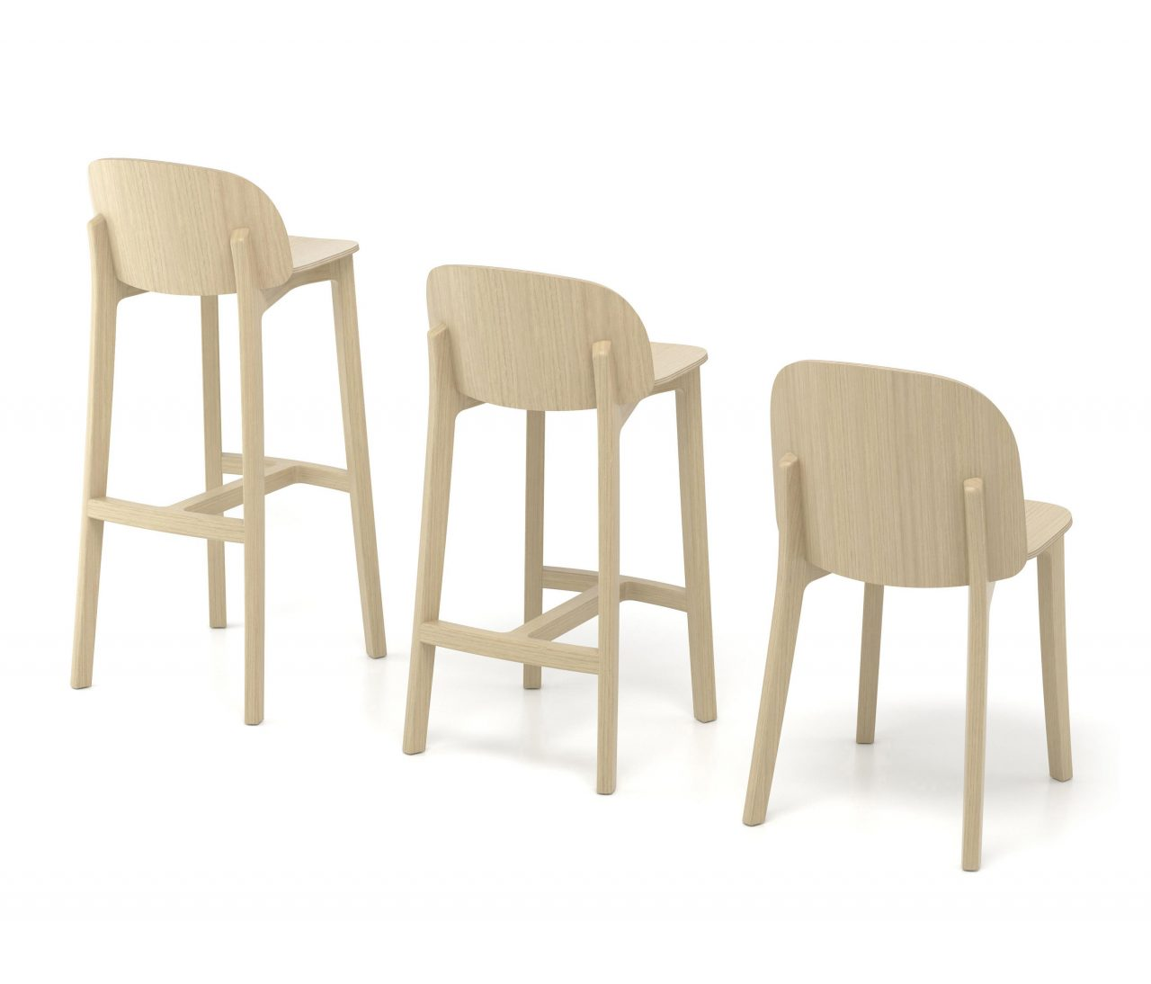 Chaise - tabouret. Fabrication française.