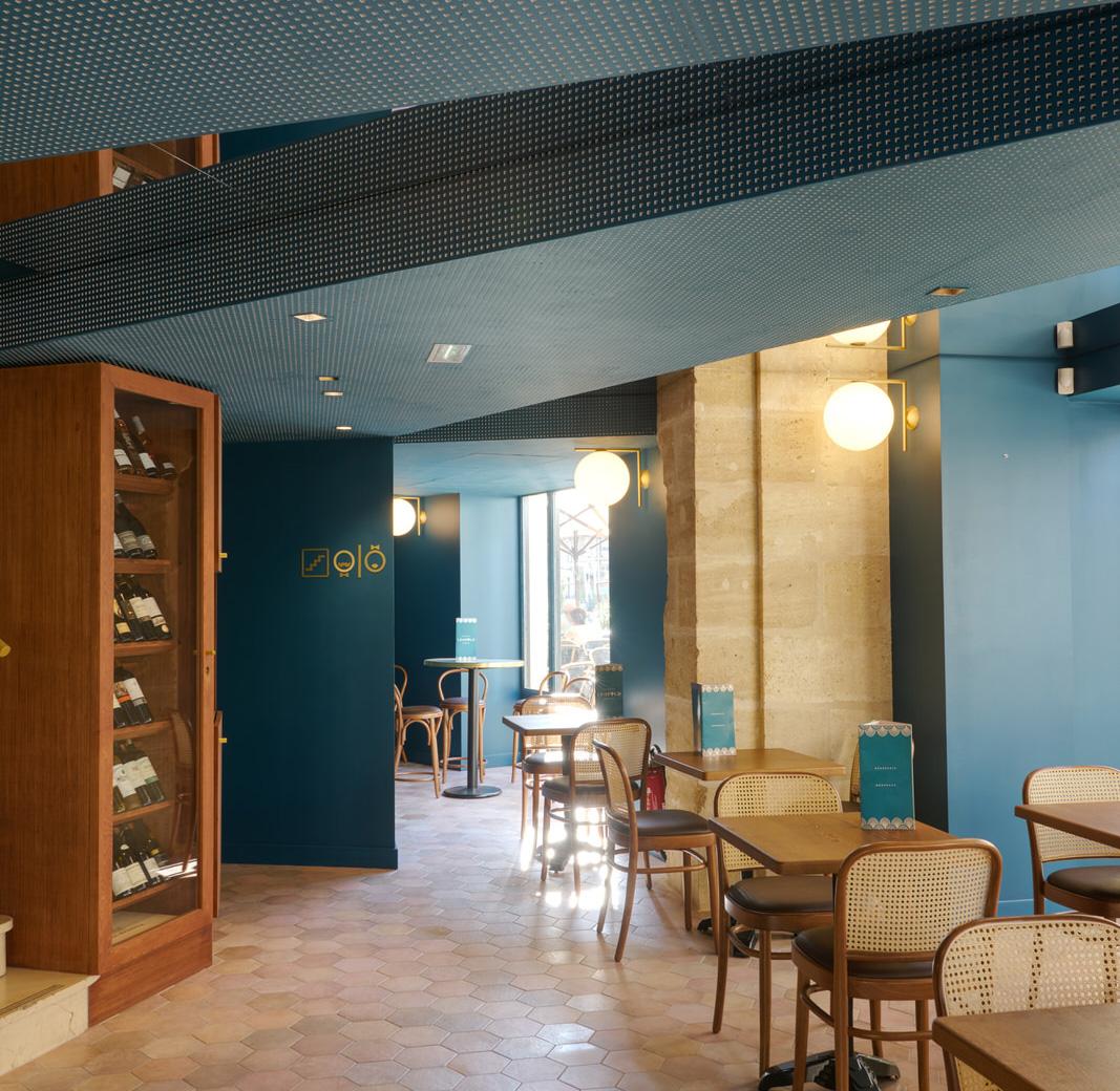 Brasserie perspective La Crèmerie maître d'oeuvre Bordeaux