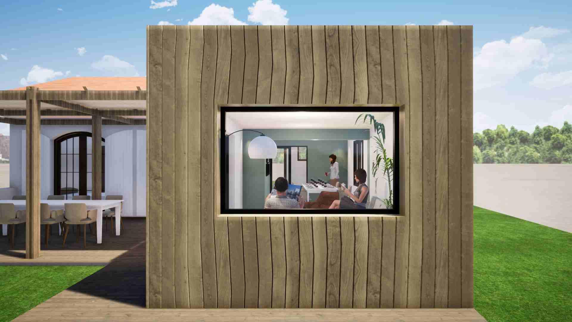 Extensions bois maison Cap Ferret La Crèmerie Vue extérieure