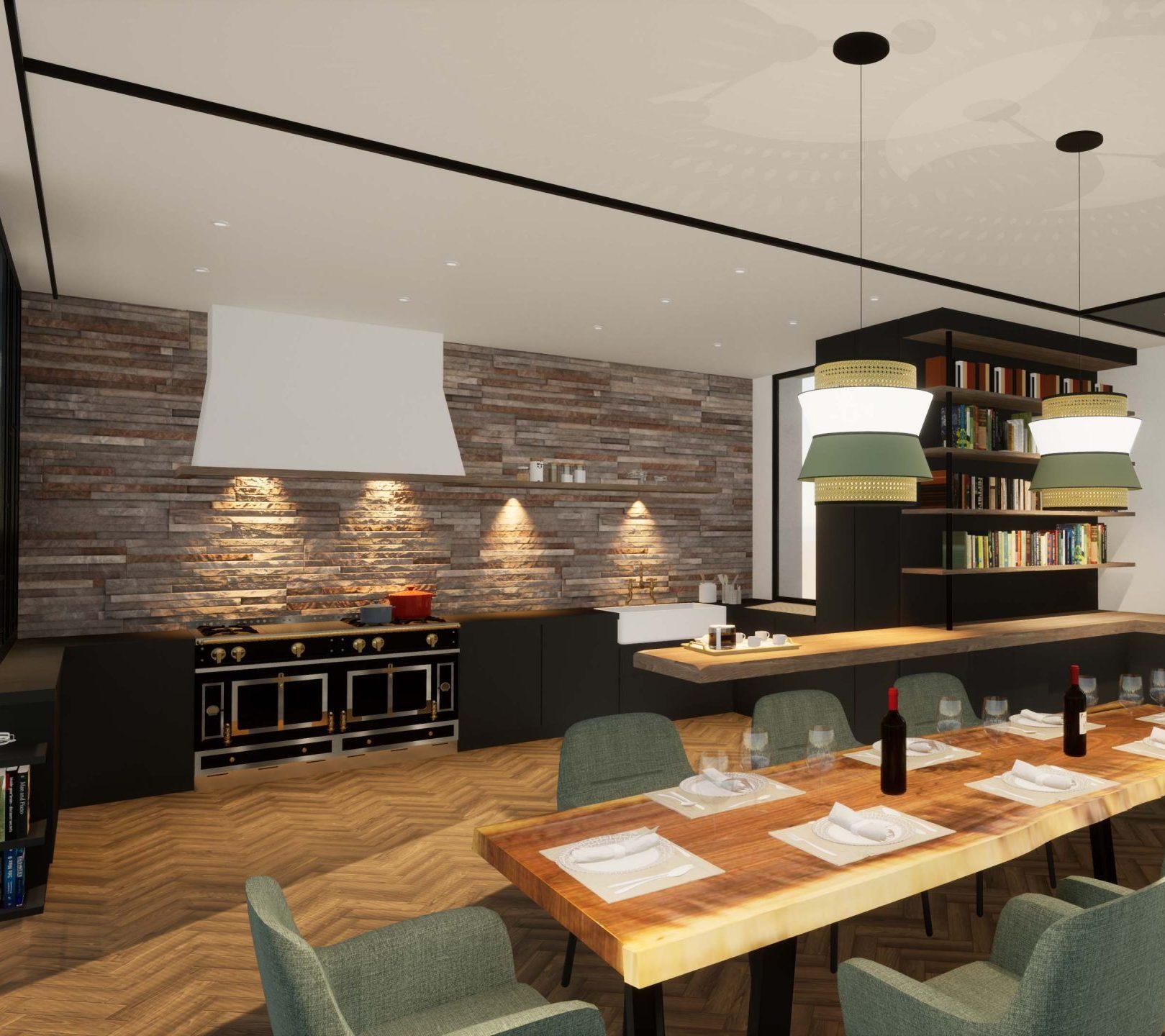 Villa de luxe décoration ameublement La Crèmerie cuisine
