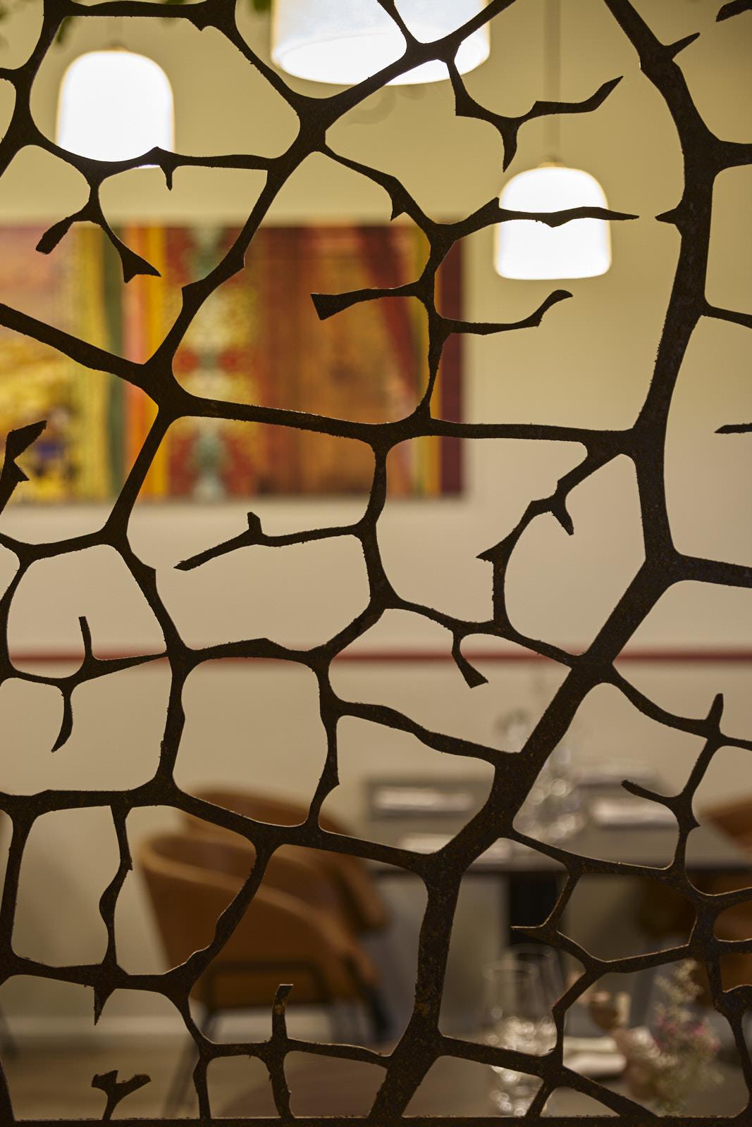 Restaurant gastronomique Bordeaux La Crèmerie création de claustra