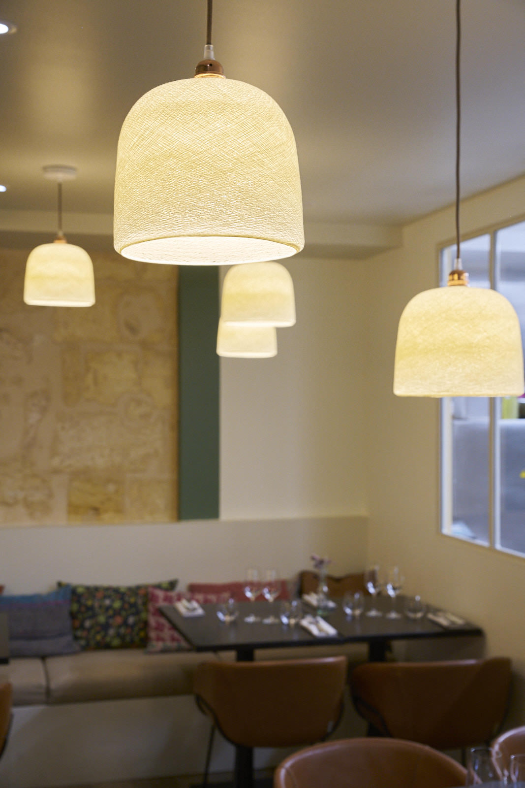 Restaurant gastronomique Bordeaux La luminaires création de claustra