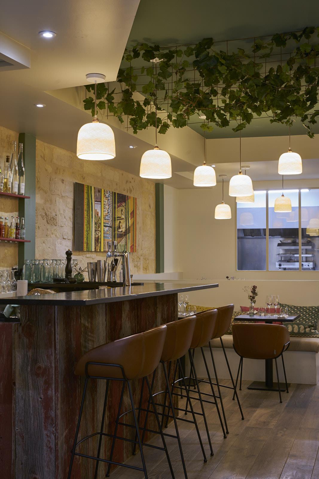 Restaurant gastronomique Bordeaux bar sur-mesure