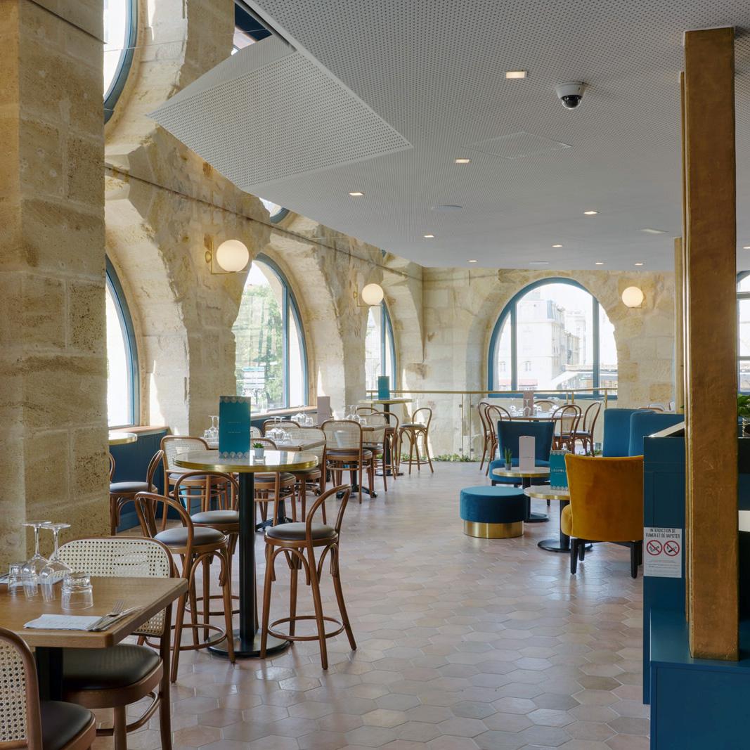 Restaurant salle etage La Crèmerie architecte interieur Bordeaux