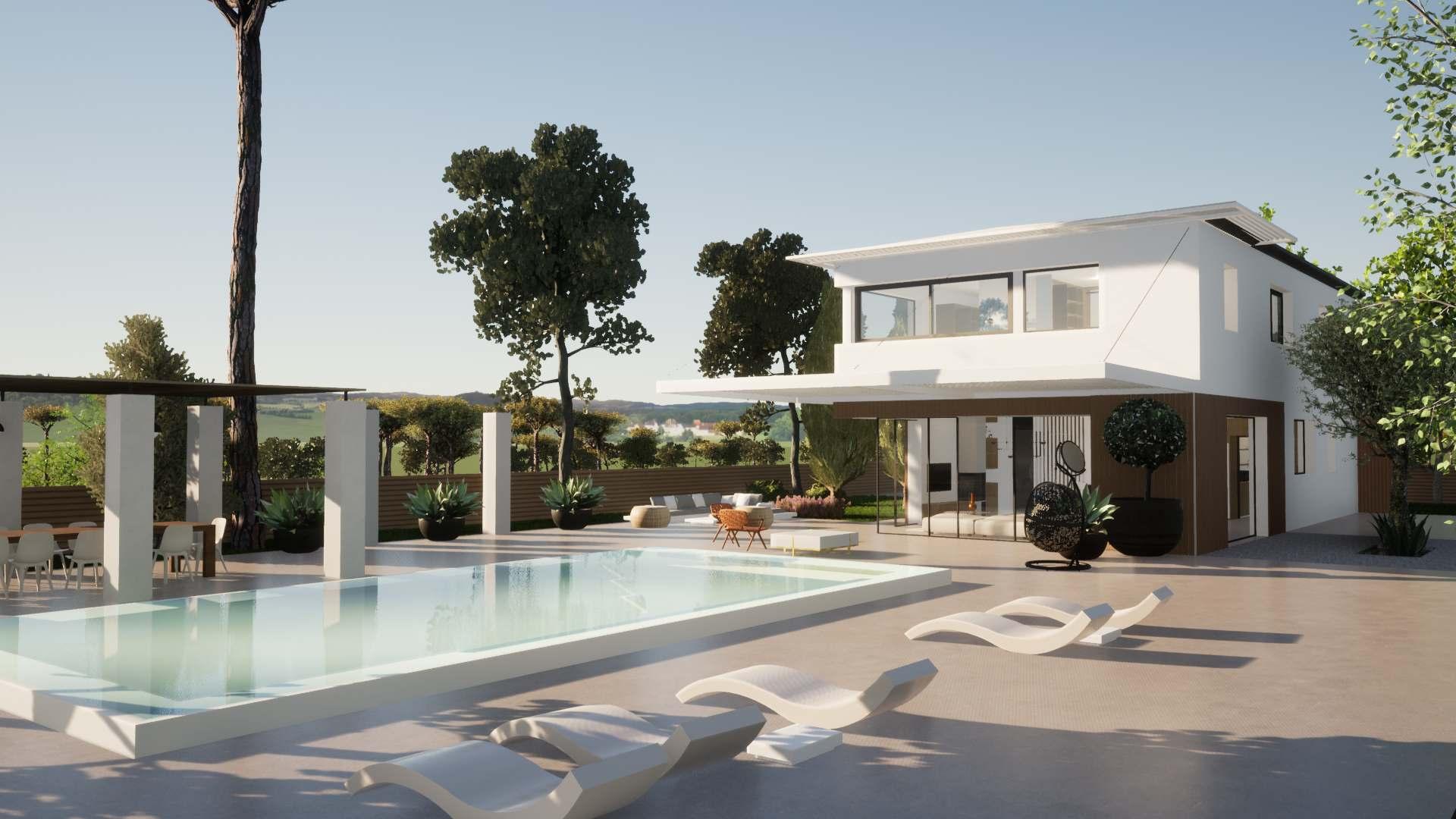 Villa Gironde La Crèmerie extérieur piscine